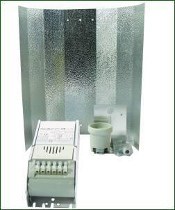 ETI System 250 W, ohne Leuchtmittel, kl. Hammerschlagreflektor