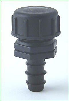PE-Endstopfen 16 mm > 3/4 mit Endkappe