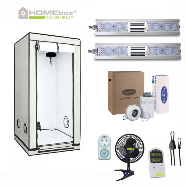 Homebox Q80+ Ambient mit 160W LED Licht & 270m³/h Abluft im Komplett LED Set