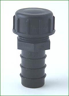 PE-Endstopfen 25 mm > 3/4 mit Endkappe