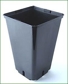 viereckiger Topf, 14,5x14,5x22cm,3L schwarz