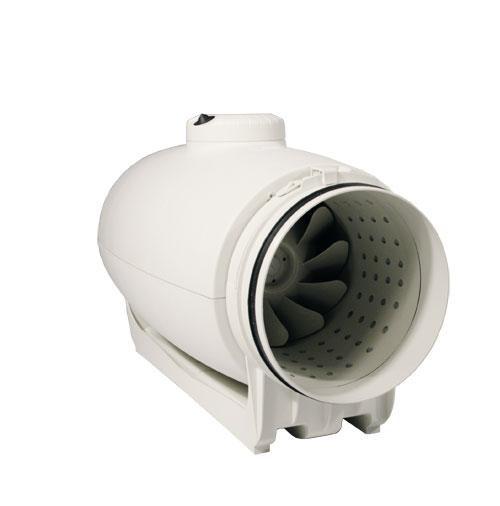 Schallgedämmter Rohrventilator, halbradial, TD-1000/200 Silent