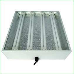 Stecklingsarmatur für 4 x 55 W, mit Leuchtmittel