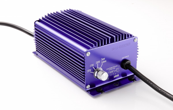 Lumatek 250 W Vorschaltgerät original, schaltbar, elektronisch, für HPS u. MH Leuchtmittel