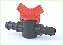Absperrhahn für 16 mm PE-Rohr