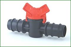 Absperrhahn für 25 mm PE-Rohr