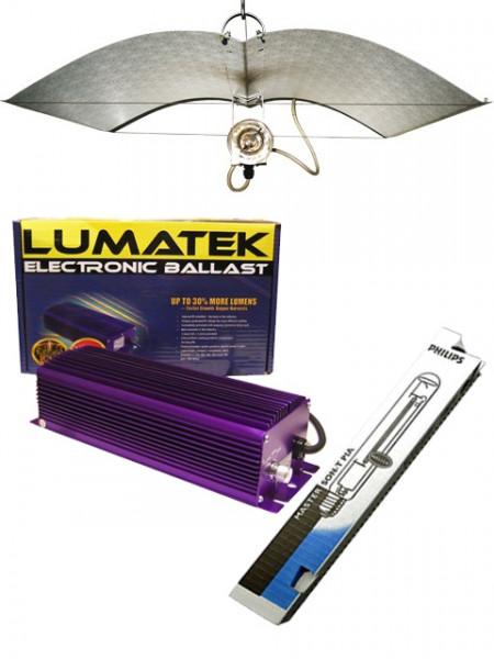 Lumatek EVSG 600 - Adjust a Wing - Philips 600 Watt Deluxe Komplett Set
