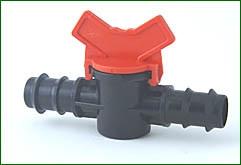 Absperrhahn für 20 mm PE-Rohr