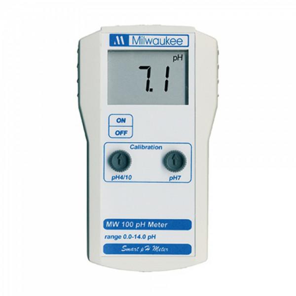 Milwaukee portable pH-Meter, Messb. 0,00-14,00pH, Auflösung 0,1pH, Genauigkeit +/-0,2pH