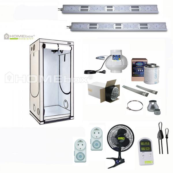 Homebox Q100 Ambient mit 320W LED growking, Komplett Set pro