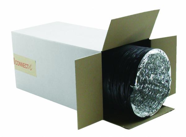 COMBICONNECT 203 mm Alu/ PVC schwarz, 10 m