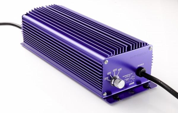 Lumatek 600 W Vorschaltgerät original, schaltbar, elektronisch,für HPS u. MH Leuchtmittel