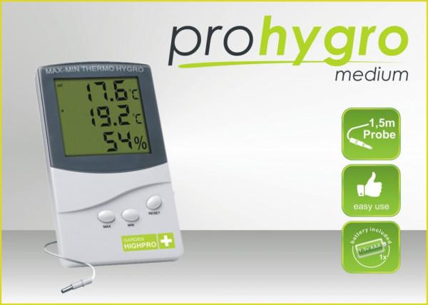 Garden Highpro digitales Min-Max Thermo-/ Hygrometer Medium
