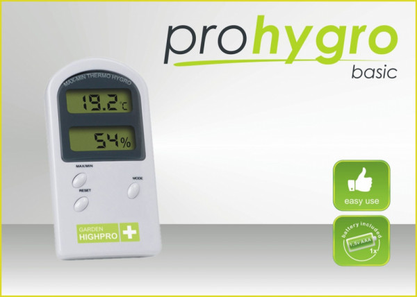 Garden Highpro digitales Min-Max Thermo-/ Hygrometer Basic