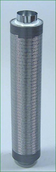 Telefonieschalldämpfer ø 100 mm , Länge 75 cm