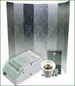ETI System 400 W, ohne Leuchtmittel, kl. Hammerschlagreflektor