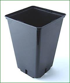 viereckiger Topf, 16x16x23,5cm,4L schwarz