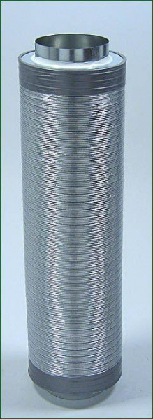 Telefonieschalldämpfer ø 160 mm , Länge 75 cm
