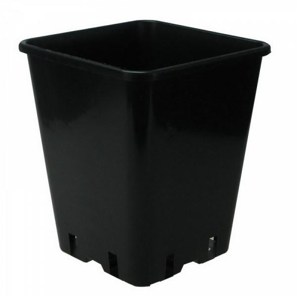 viereckiger Topf,23x23x26cm, 11L schwarz