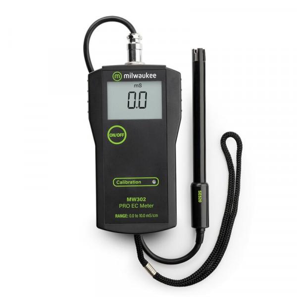 Milwaukee EC-Meter, Messbereich 0-10 mS/cm, Auflösung 0,1 mS/cm, Genauigkeit +/- 2 % mit Ersatzelekt