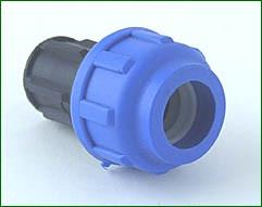 Endstopfen für 16 mm PE-Rohr verschraubt