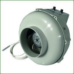Prima Klima Rohrlüfter 125mm - 400m³/h mit Temperaturregler