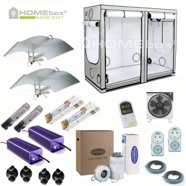 HOMEBOX AMBIENT R240 Komplettset 2 x 600 Watt Extrem, Adjust A Wing, Lumatek